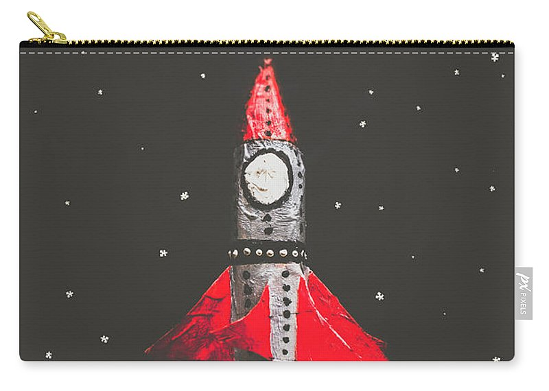Book Carry-all Pouch featuring the photograph Rockets And Cartoon Puzzle Star Dust by Jorgo Photography - Wall Art Gallery