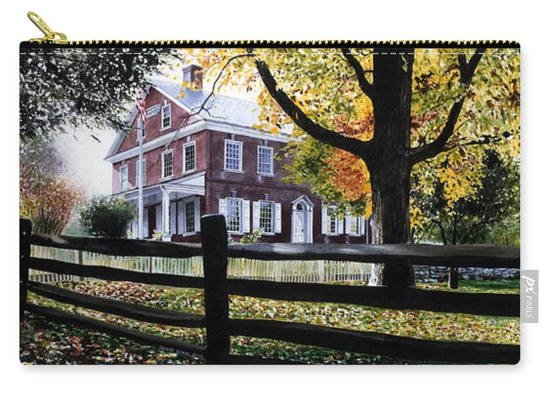Lancaster County Pa Carry-all Pouch featuring the painting Rockford In Autumn by Denny Bond