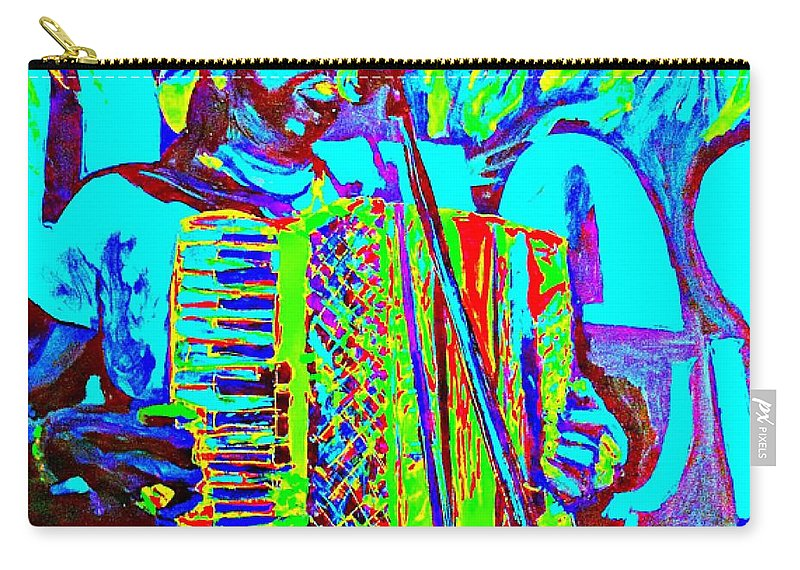 Zydeco Carry-all Pouch featuring the painting Rockin' The Blues Blues by Paula Baker
