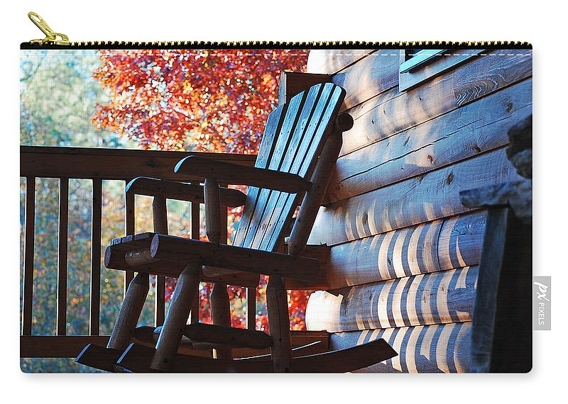 Rocking Chair Carry-all Pouch featuring the photograph Rocking by Robert Meanor