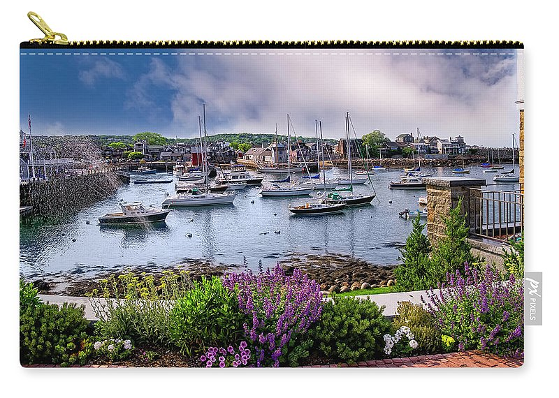 Ocean Carry-all Pouch featuring the photograph Rockport In Bloom by Mark Myhaver