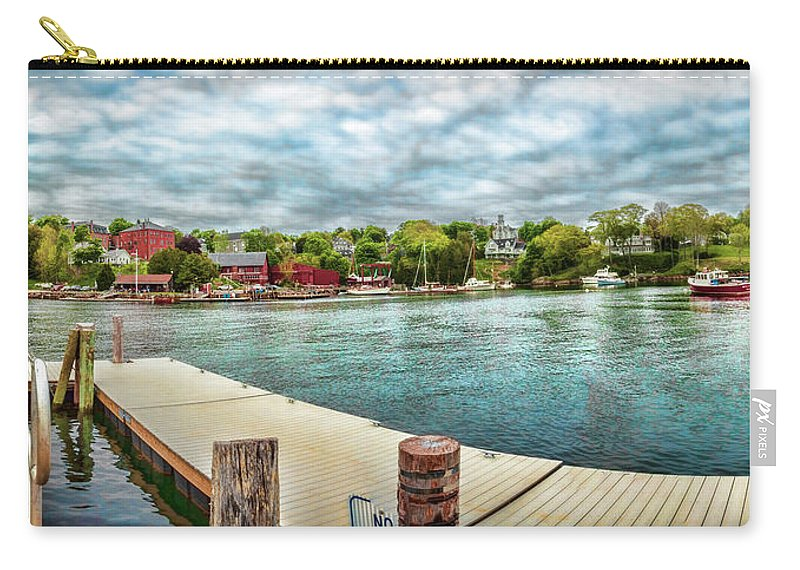 Landscape Of Rockport Harbor Carry-all Pouch featuring the photograph Rockport Inner Harbor by Daniel Hebard