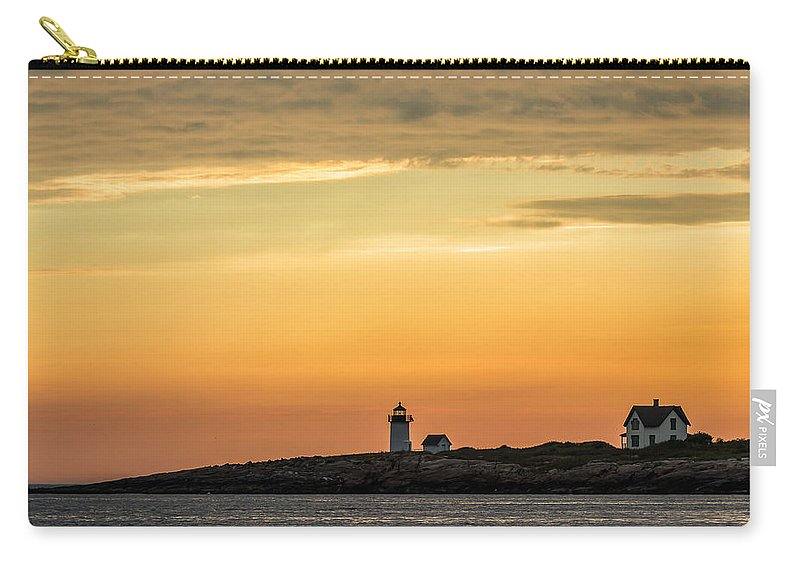 Lighthouse Carry-all Pouch featuring the photograph Rockport Lighthouse by Tim Kirchoff