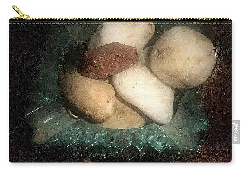 Ashtray Carry-all Pouch featuring the painting Rocks And Dust by RC DeWinter