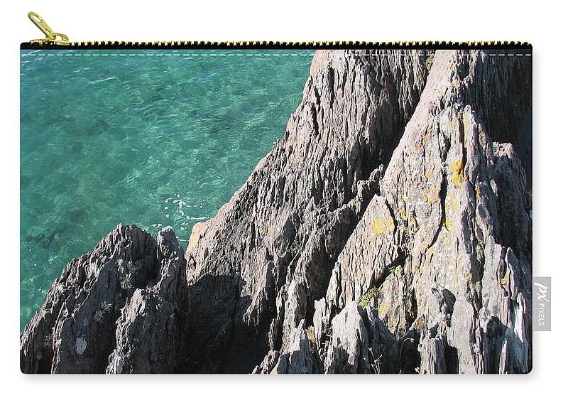 Kerry Carry-all Pouch featuring the photograph Rocks of Kerry by Kelly Mezzapelle