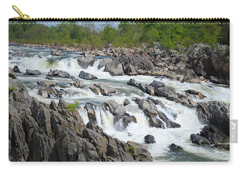 River Carry-all Pouch featuring the photograph Rocks Of The Potomac by Jost Houk