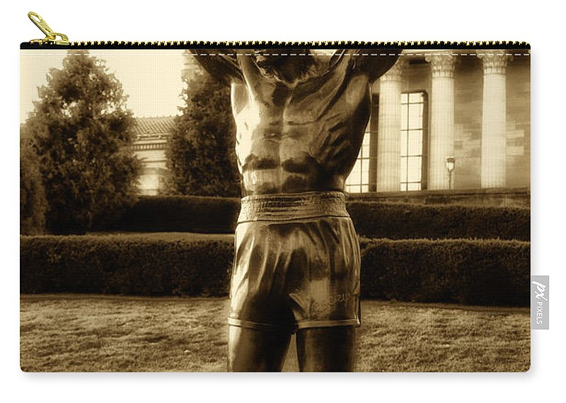 Sports Carry-all Pouch featuring the photograph Rocky - Heart Of A Champion by Bill Cannon