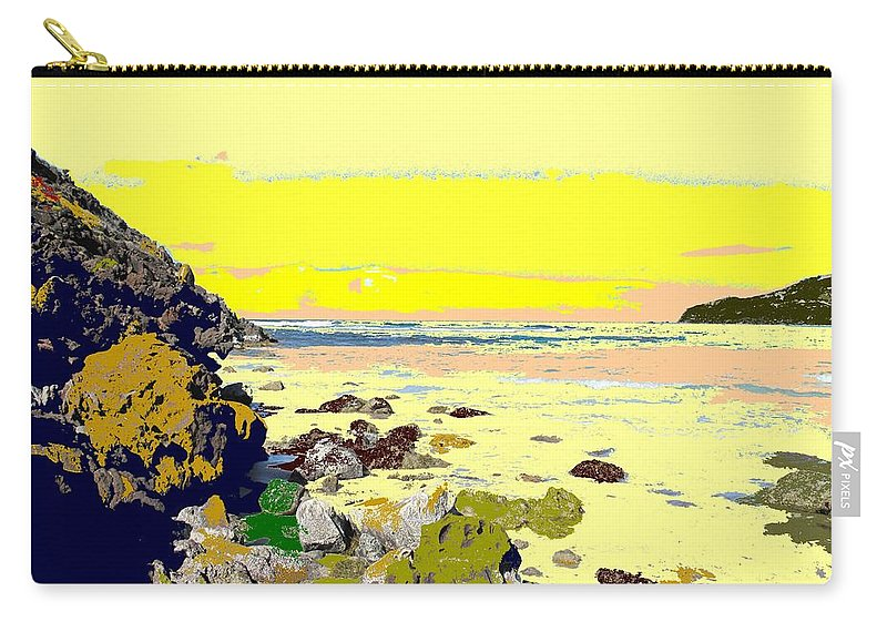 Beach Carry-all Pouch featuring the photograph Rocky Beach by Ian MacDonald