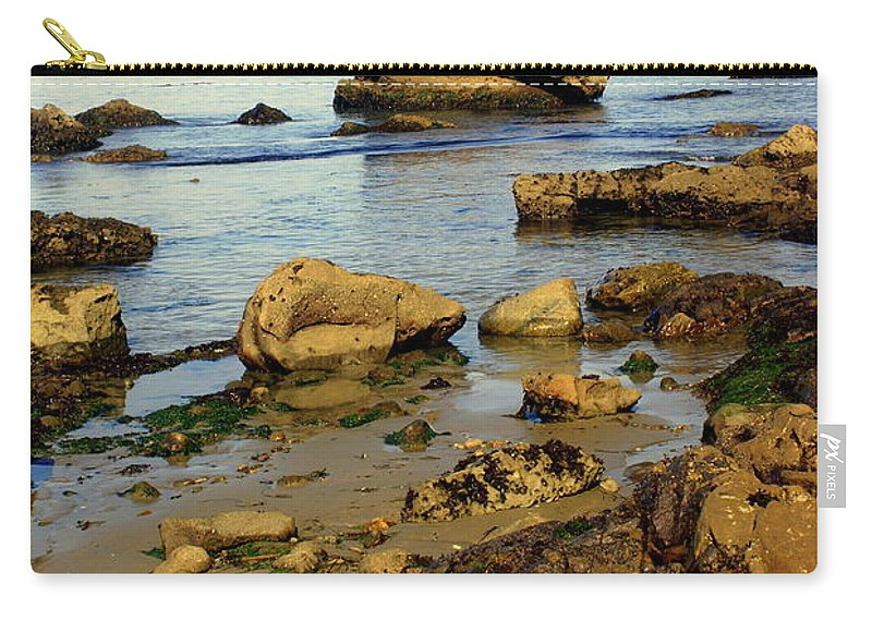 Beach Carry-all Pouch featuring the photograph Rocky Beach by Marty Koch