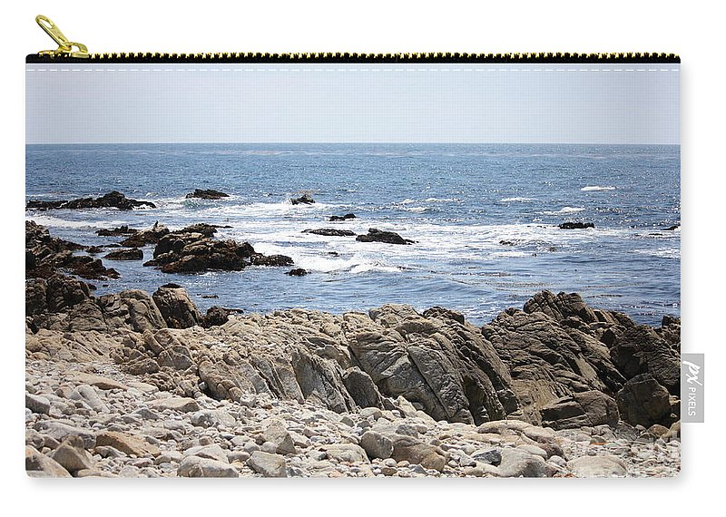 California Carry-all Pouch featuring the photograph Rocky California Coastline by Carol Groenen
