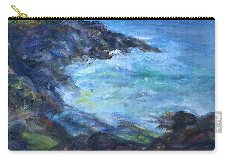 Quin Sweetman Carry-all Pouch featuring the painting Rocky Creek Viewpoint by Quin Sweetman