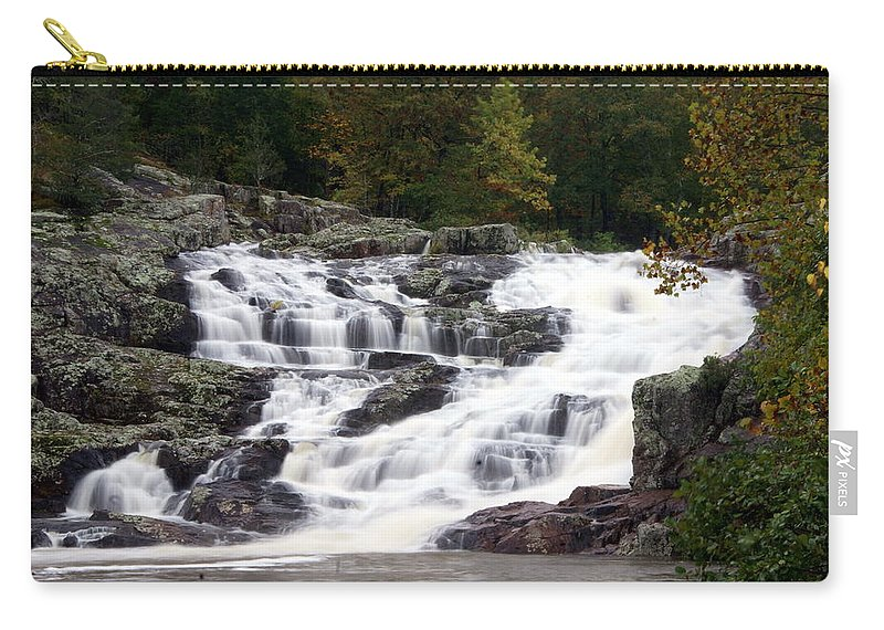 Rocky Falls Carry-all Pouch featuring the photograph Rocky Falls by Marty Koch