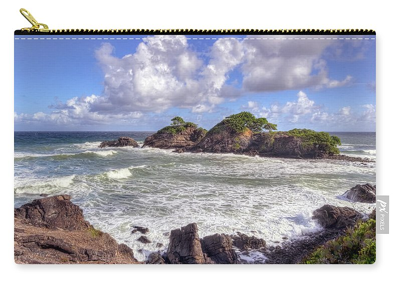 Toco Carry-all Pouch featuring the photograph Rocky Island by Nadia Sanowar