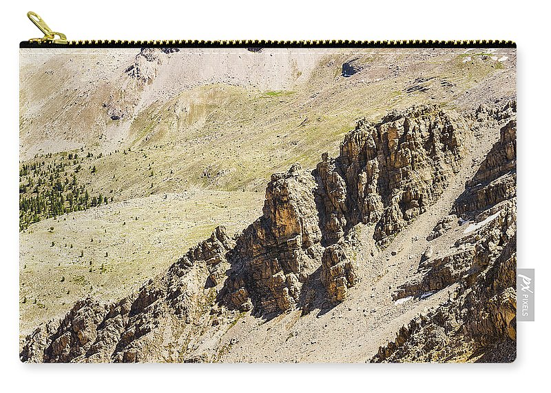 Mountain Landscape Carry-all Pouch featuring the photograph Rocky Landscape - 3 - French Alps by Paul MAURICE