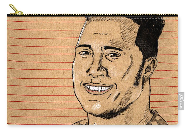 Rock Carry-all Pouch featuring the painting Rocky Maivia by Frank Middleton