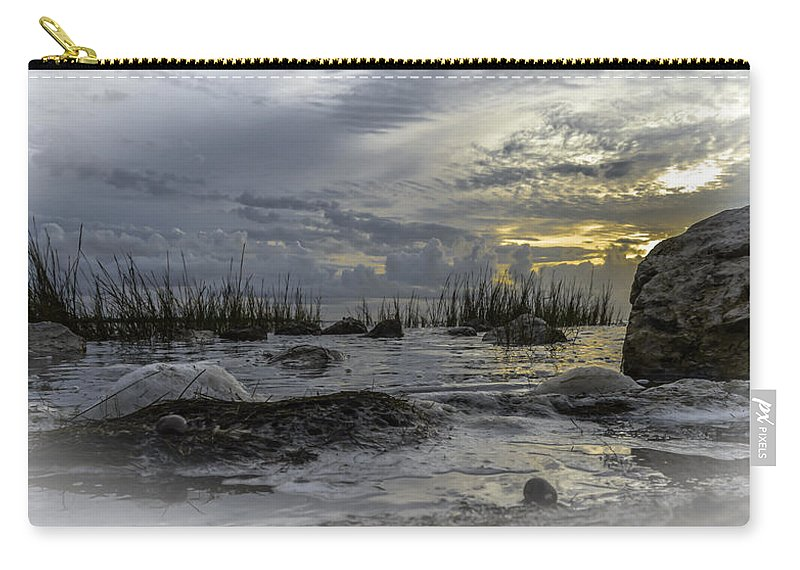 Sunrise Carry-all Pouch featuring the photograph Rocky Morning by Leticia Latocki