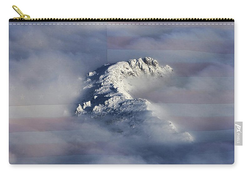 Rocky Mountains Carry-all Pouch featuring the photograph Rocky Mountain High - America The Beautiful by James BO Insogna