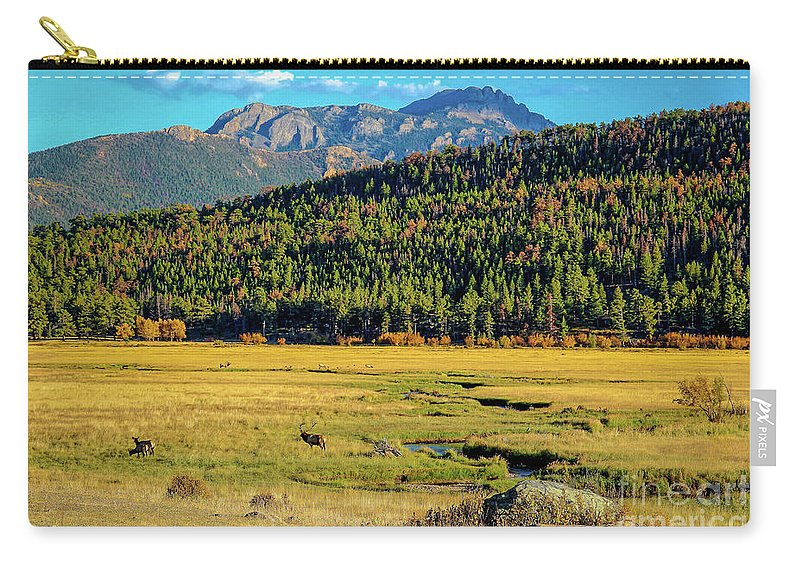 Rocky Mountain National Park Carry-all Pouch featuring the photograph Rocky Mountain National Park Elk by Jon Burch Photography