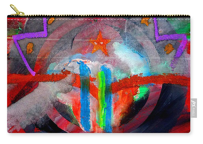 Button Carry-all Pouch featuring the painting Rocky Mountain Pass by Charles Stuart
