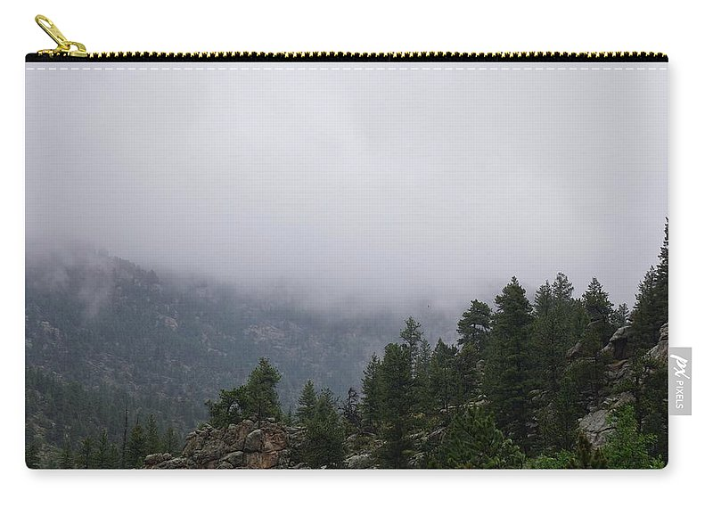 Rocky Carry-all Pouch featuring the photograph Rocky Mountain Rain Clouds by Susan Brown