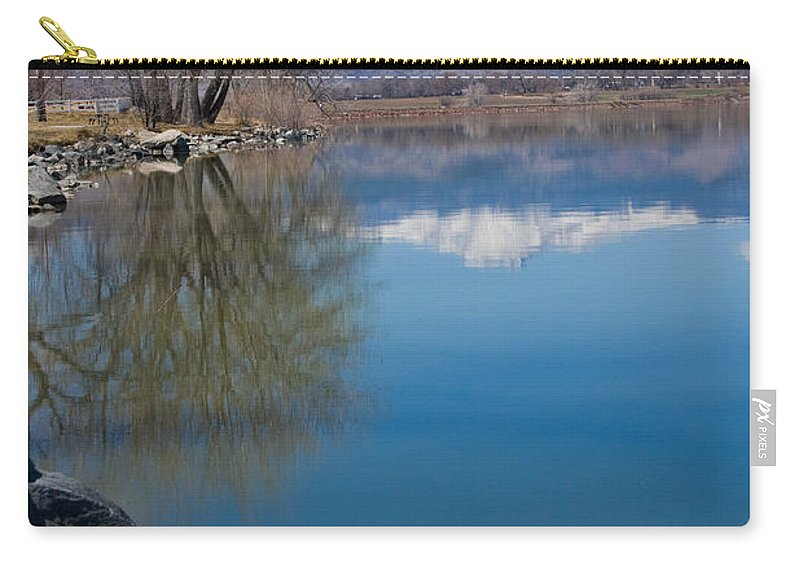 Twin Peeks Carry-all Pouch featuring the photograph Rocky Mountain Reflections by James BO Insogna