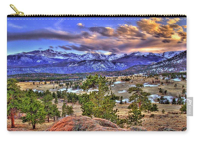 Colorado Carry-all Pouch featuring the photograph Rocky Mountain Sunset by Scott Mahon