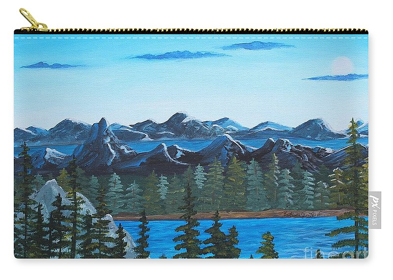 Barbara Griffin Carry-all Pouch featuring the painting Rocky Mountain View by Barbara Griffin