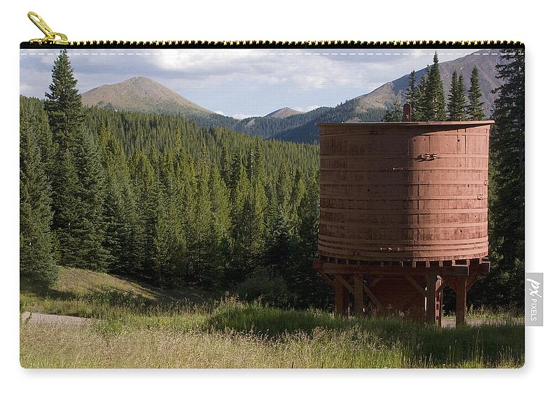 Landscape Carry-all Pouch featuring the photograph Rocky Mountain Water Tower by Jeffery Ball