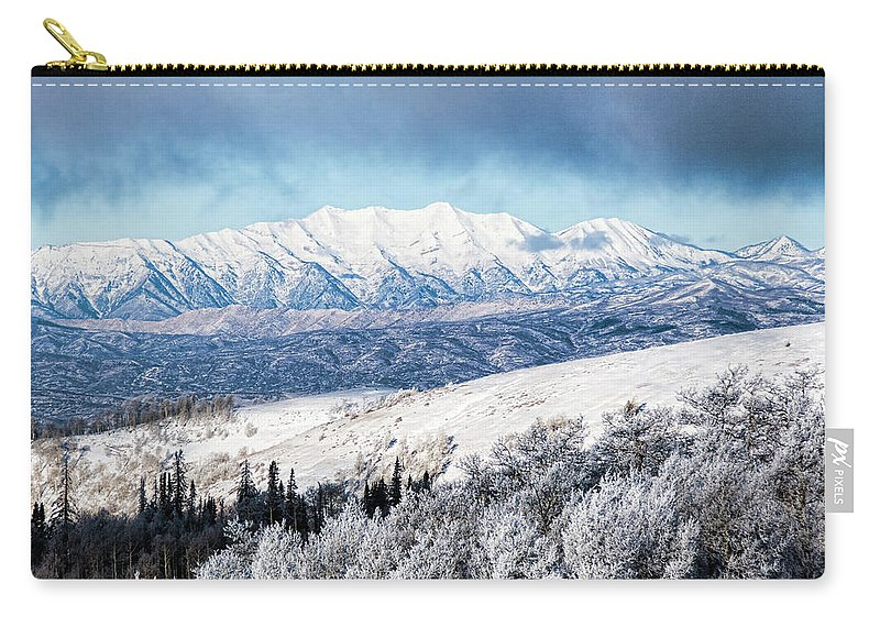 Mount Nebo Carry-all Pouch featuring the photograph Rocky Mountain Winter by Photopoint Art