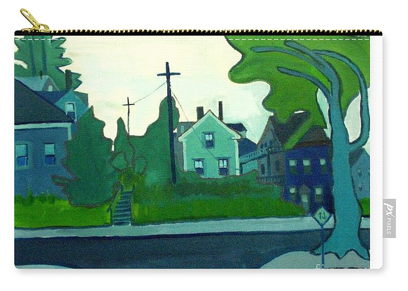 Landscape Carry-all Pouch featuring the painting Rocky Neck Art Colony East Gloucester Ma by Debra Bretton Robinson
