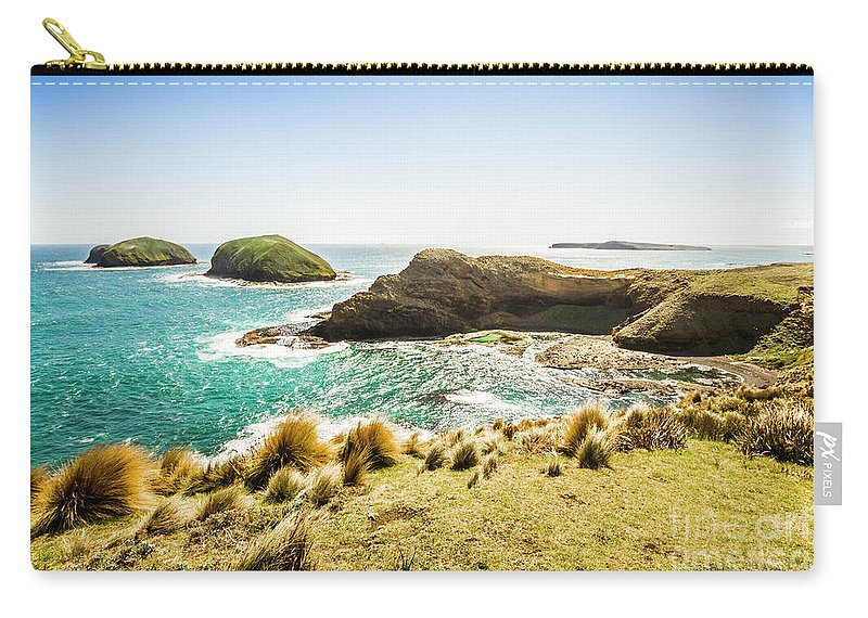 Landscape Carry-all Pouch featuring the photograph Rocky Ocean Capes by Jorgo Photography - Wall Art Gallery