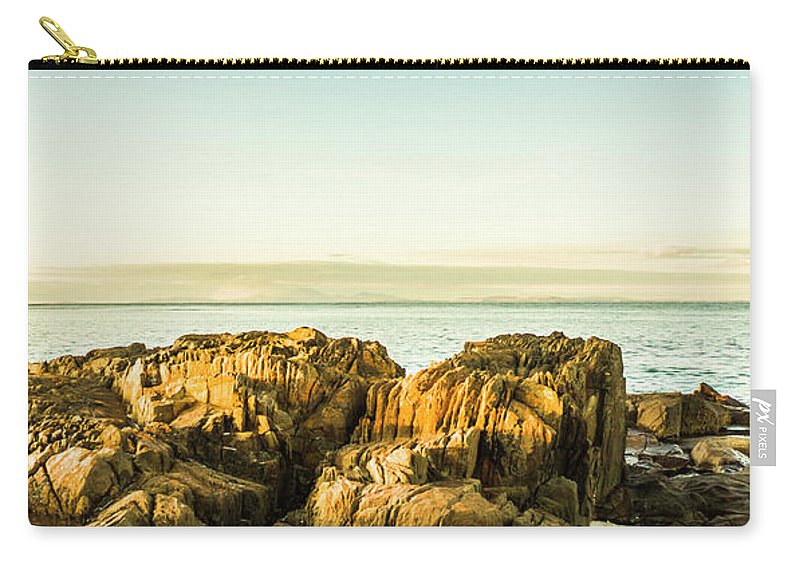 Cape Portland Carry-all Pouch featuring the photograph Rocky Oceanscape by Jorgo Photography - Wall Art Gallery
