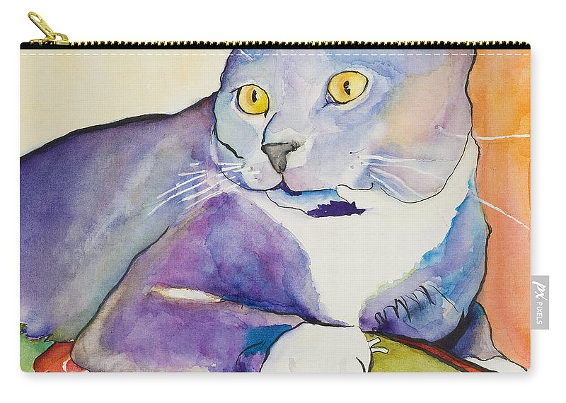 Pat Saunders-white Carry-all Pouch featuring the painting Rocky by Pat Saunders-White