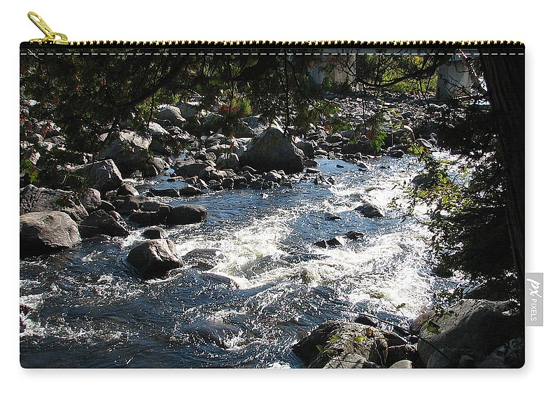 Water Carry-all Pouch featuring the photograph Rocky Rapids by Kelly Mezzapelle