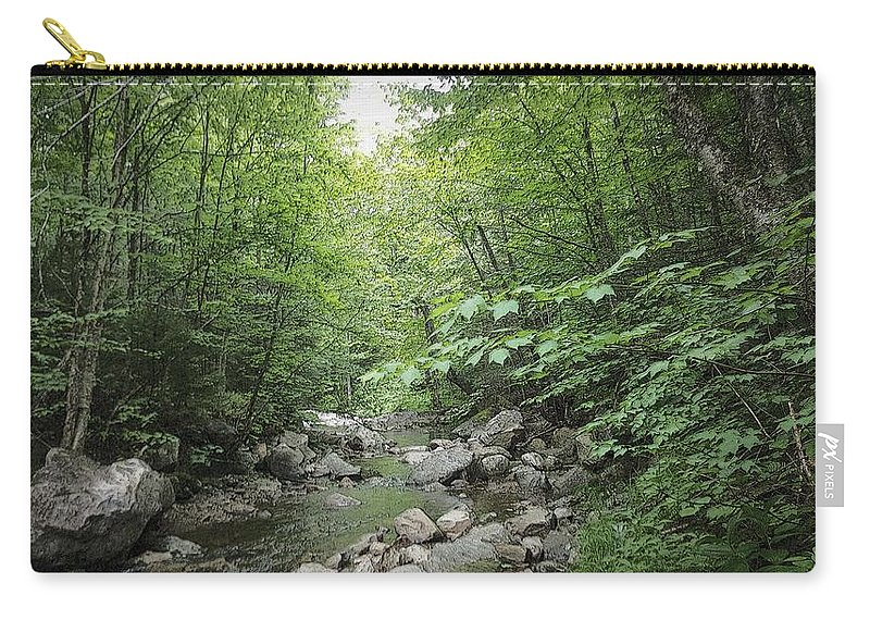 River Carry-all Pouch featuring the photograph Rocky River In Green by Kevin Humphrey