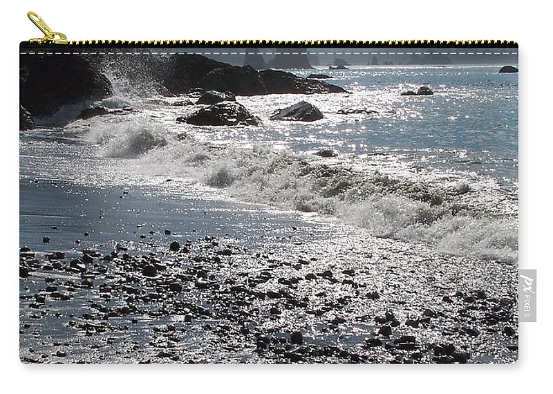 Ocean Carry-all Pouch featuring the photograph Rocky Shores by Gale Cochran-Smith