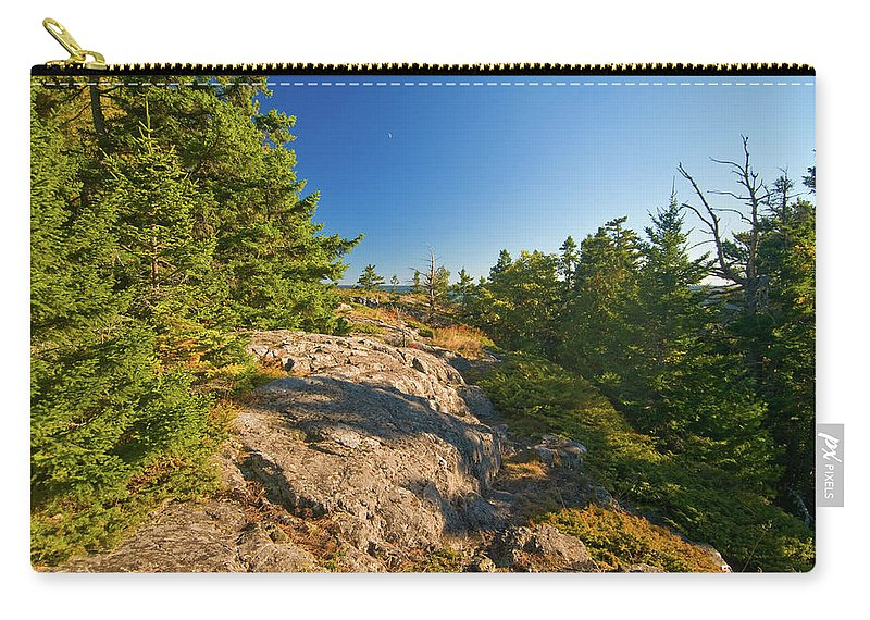 acadia National Park Carry-all Pouch featuring the photograph Rocky Trail by Paul Mangold