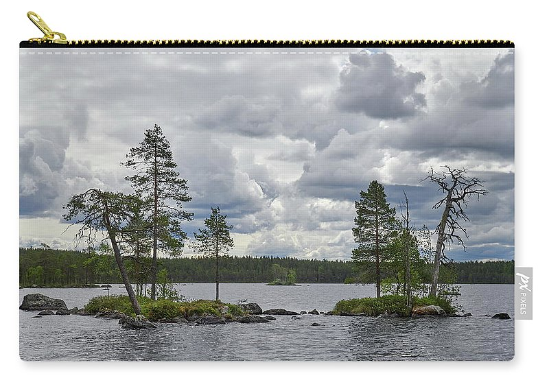 Finland Carry-all Pouch featuring the photograph Rocky Twins. Koirajarvi by Jouko Lehto
