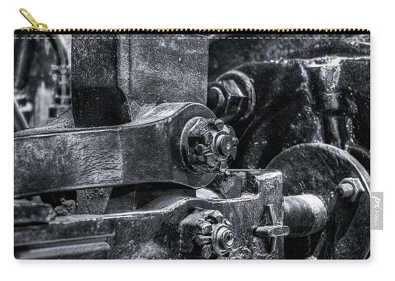 Machinery Carry-all Pouch featuring the photograph Rods Of Steel by Scott Wyatt