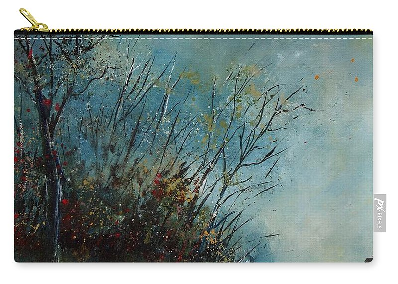 Animal Carry-all Pouch featuring the painting Roedeer In The Morning by Pol Ledent