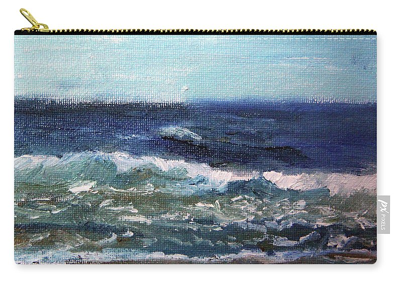 Nature Carry-all Pouch featuring the painting Rolling Along by Michael Helfen