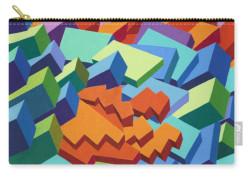 Oilpastel Carry-all Pouch featuring the painting Rolling Hills by Sean Corcoran
