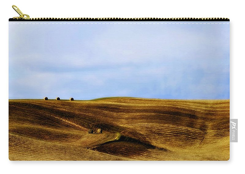 Italy Carry-all Pouch featuring the photograph Rolling Hills Of Hay by Marilyn Hunt