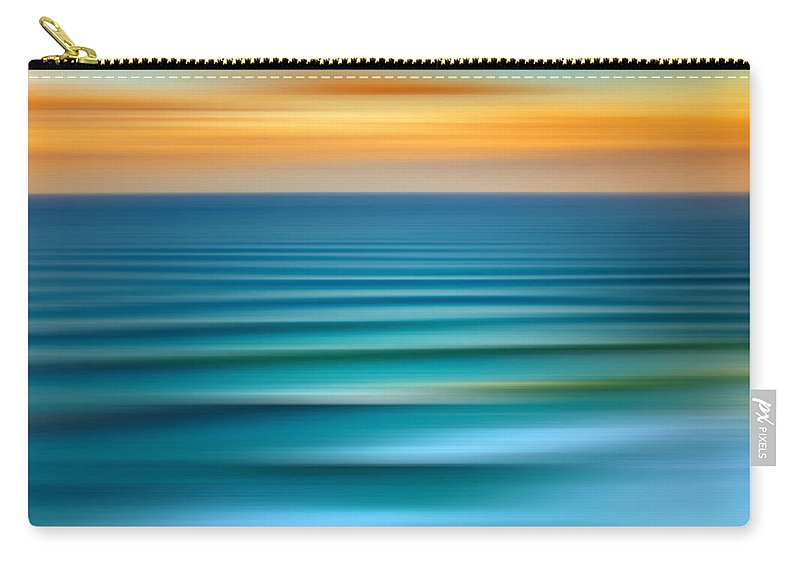 Beach Carry-all Pouch featuring the digital art Rolling In by Az Jackson