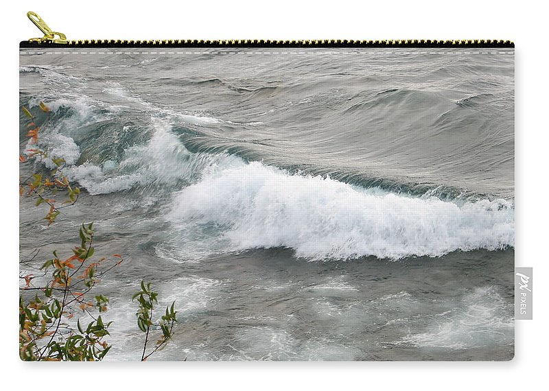 Wave Carry-all Pouch featuring the photograph Rolling by Kelly Mezzapelle