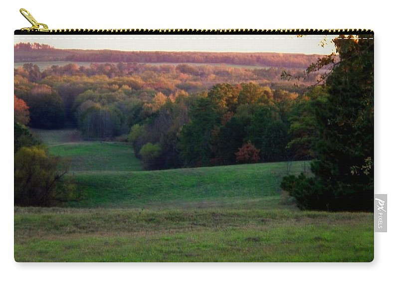 Landscape Carry-all Pouch featuring the photograph Rolling Meadow by Betty Northcutt