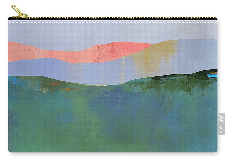 Mountains Carry-all Pouch featuring the digital art Rolling Mountains by Jacquie Gouveia
