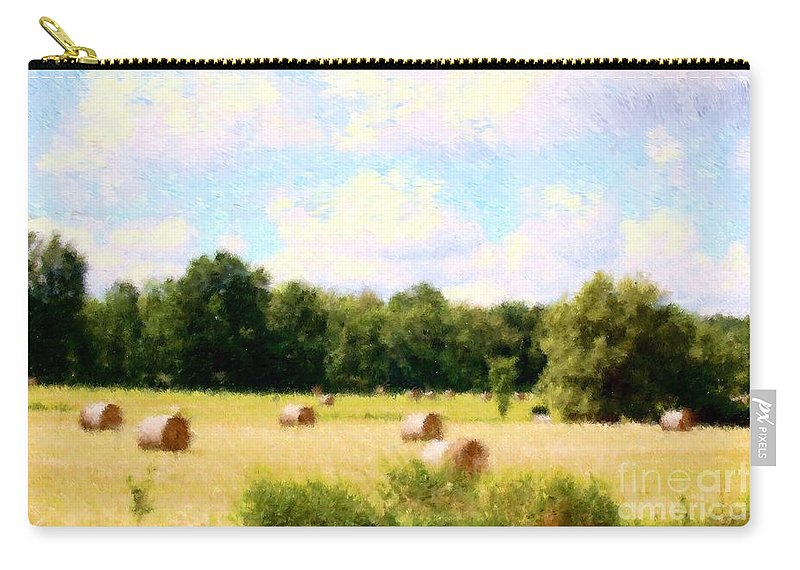 Nature Carry-all Pouch featuring the photograph Rolling The Hay by David Lane