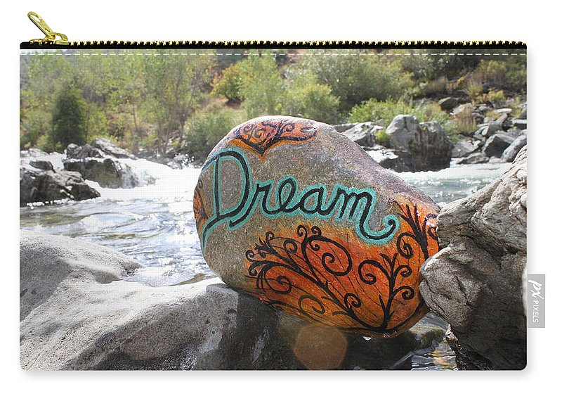 Carry-all Pouch featuring the photograph Rolling Water Dreams by Kathy Partak
