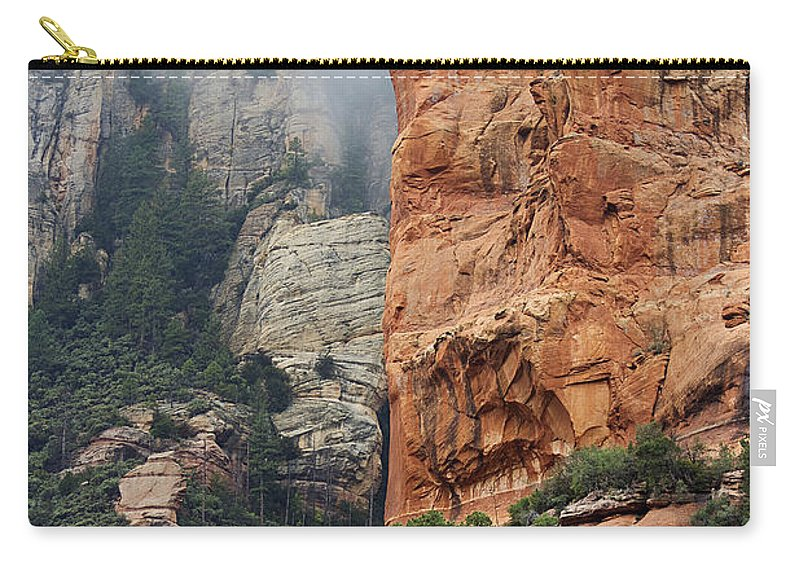 Sedona Carry-all Pouch featuring the photograph Rollings Mists by Phyllis Denton